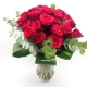 RAGGIO DI LUCE: 24 rose rosse