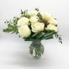 ORO E ARGENTO: 12 rose bianche