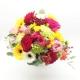 RISVEGLIO DI PRIMAVERA: rose miste colorate, gerbere miste, alstromelia e garofani