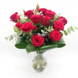 SGUARDO INCANTATO: 12 rose rosse