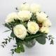 ELOGIO ALLA PUREZZA: 9 rose bianche