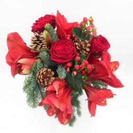 RESINA DI PINO: rose rosse, amarillis e iperico
