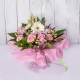 bouquet fresh rosa di rose e gerbere