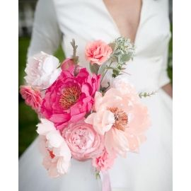 BOUQUET DI PEONIE E ROSE DI CARTA