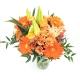 SPRITZ DI FIORI: rose arancio, margherite, gerbere e lilium