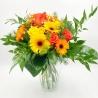 SAPORE DI ALBICOCCA: rose e gerbere giallo e arancio