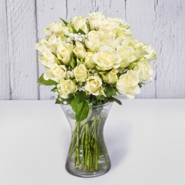 BOUQUET DI 30 ROSE BIANCHE