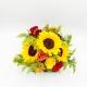 BOX NERA GELATO PROFUMATO: girasoli, rose e gerbere
