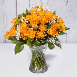 BOUQUET DI 30 ROSE ARANCIO