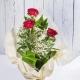 3 rose rosse