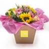 GINEVRA: Bouquet Fresh di girasoli e rose rosa