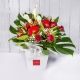 Bouquet rosso con calle e gerbere
