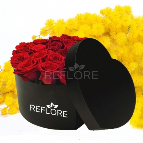 ROSE IN LUXURY BOX CUORE