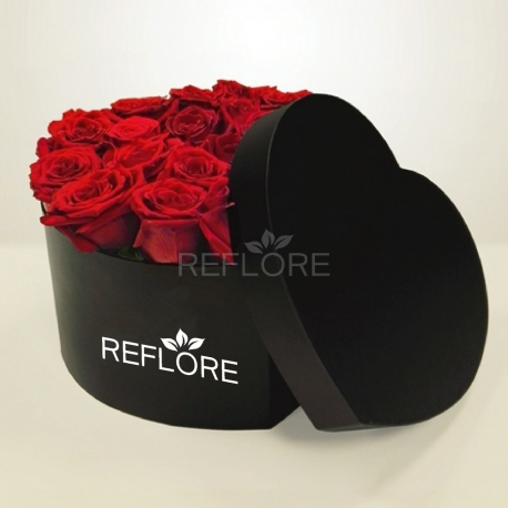 ROSE IN LUXURY BOX A CUORE