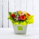 LAVINIA: bouquet fresh colorato con Rose e Gerbere.