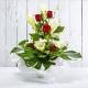PERLA: bouquet fresh bianco con Rose, Lilium e Gerbere.