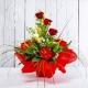 REGINA: bouquet fresh rosso con Rose, Anturium e Calle.