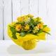 VIRGINIA: bouquet fresh giallo con Rose e Gerbere.